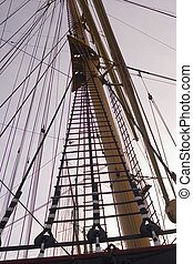 Rigging - Masts and rigging agaist the evening sky