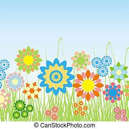 Summer background, vector - Summer background, illustration