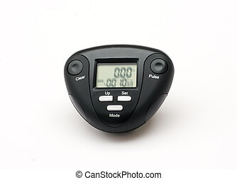 Pedometer and Pulse meter - Belt fixing pedometer step meter
