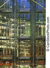 Structural glass - Hi-tech curtain wall detail