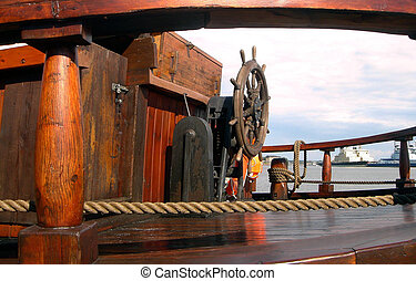 Deck of the old ship