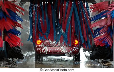Car Wash - Photographed a drive through car wash in Florida.