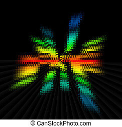 Color Spectrum Blur - a color spectrum blurred over the...