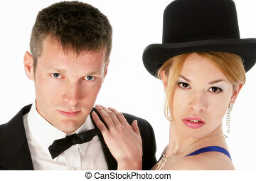 Couple Man Woman - Attractive young couple in formal wear....