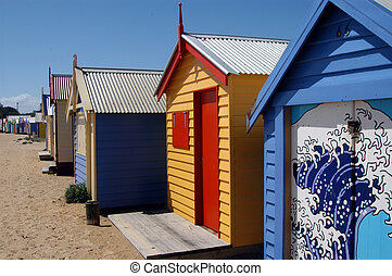Colorful Beach house - Colorful beach houses on Brighton...