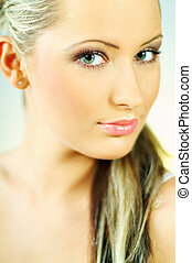 Lady\\\'s Portrait - Portrait of attractive beautiful young...