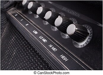 guitar amp - knobs on a guitar amp