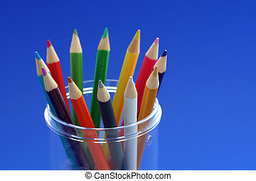 Diversity - Bunch of pencil colors in a pencil holder