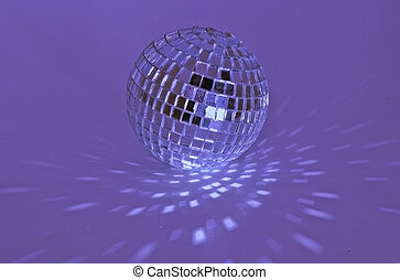 disco ball - purple disco ball