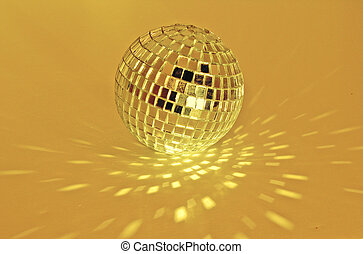 disco ball - golden disco ball