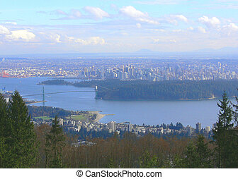 Vancouver - A wide city shot taken from Cypress Mountain You...