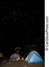 kilimanjaro 007 shira hut camp tent night view