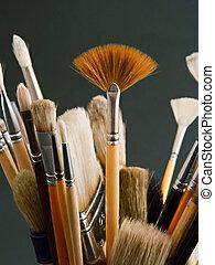 artista, escovas