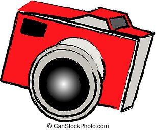 old school camera - illustration