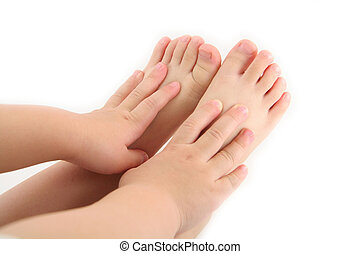 child hands and foot