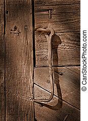 Hook on old barn door