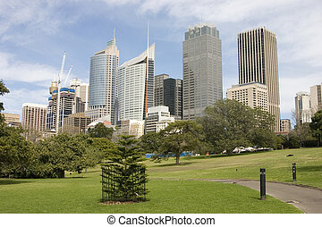 Sydney Skyline - Sydney skyline from The Botanical gardens