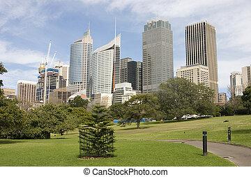 Sydney Skyline - Sydney skyline from The Botanical gardens