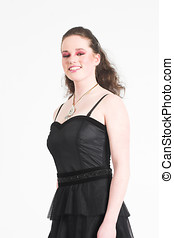 Beautiful teen in party dress - Beautiful teenager in party...