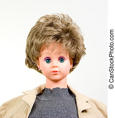 Passport Photo - Picture of a Doll in Blondys Wig