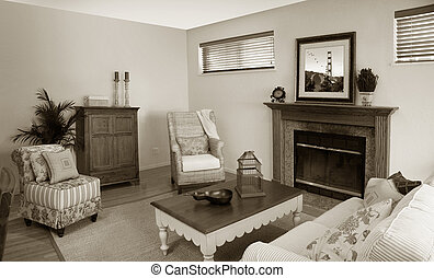Old fashion room - The pictures on the wall is my own image....
