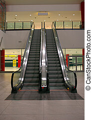 escalator seen from the bottom