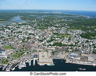Gloucester,mass - Aerial of Gloucester,mass