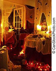Halloween 2oo4 - o1 - Halloween 2oo4 haunted house set up.