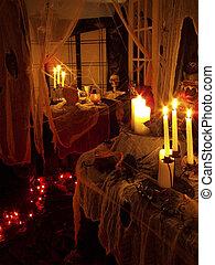 Halloween 2oo4 - o2 - Halloween 2oo4 haunted house set up.