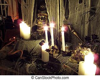 Halloween 2oo5 - o3 - Halloween 2oo5 haunted house set up