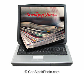 Breaking news-clipping path - Composite image suggesting...