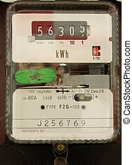 metered power - Electricity meter-residential