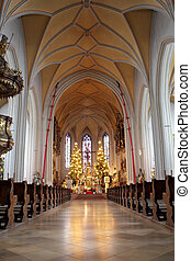 Kirchberg 22 - Interior of church in Kirchberg, Germany