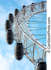 London#18 - Merry-go-round and blue sky.