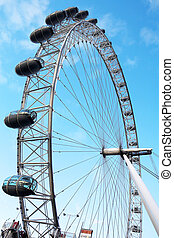 London#20 - Merry-go-round and blue sky.