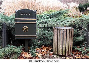 London#35 - Dustbin in a park in London.