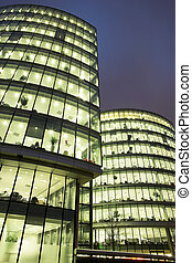 London #47 - Office block at nighttime.