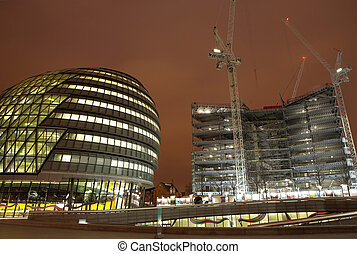 London #48 - Office block and construction scene at...