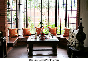 Sitting Area with antique furnitures