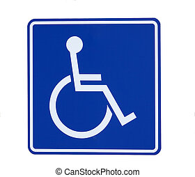 Handicap Sign - Handicap Parking Sign Isolated on white
