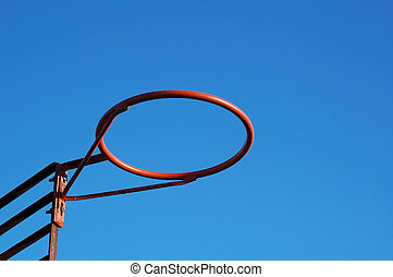 Red Basketball Ring - A Red Basket without the net and the...