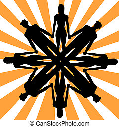 Group of people - Silhouettes of people