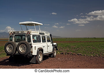 transportation 004 safari vehicle plus landscape