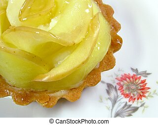 Apple tart - A tartelette aux pommes, or apple tart, on a...