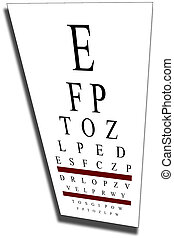 Eye chart with clip path - Computer Generated Eye Chart with...