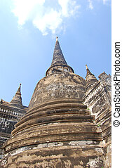 Chedi from Ayuthaya in Thailand