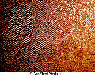 spider web - abstract orange spider background