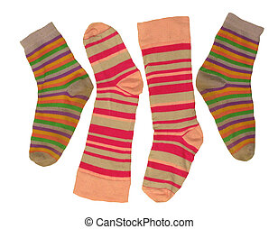 Socks for children isolated on white backgrounds