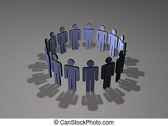 Group Meeting - Circle of people meeting