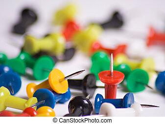Push pins - Colorful push pins close up